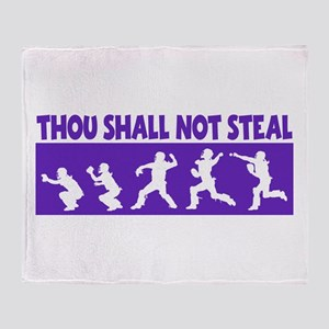 SHALL NOT STEAL Throw Blanket