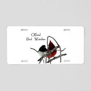 Official Bird Watcher Aluminum License Plate