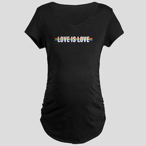 Love is Love Ribbon Maternity T-Shirt