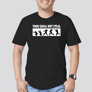 SHALL NOT STEAL Men's Fitted T-Shirt (dark)