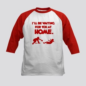 Waiting at Home Kids Baseball Jersey