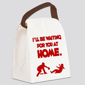 Waiting at Home Canvas Lunch Bag