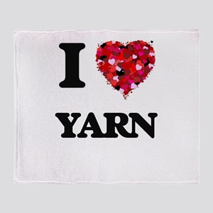 I love Yarn Throw Blanket