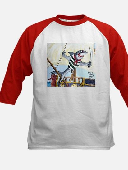 Pirate Shark Kids Baseball Jersey