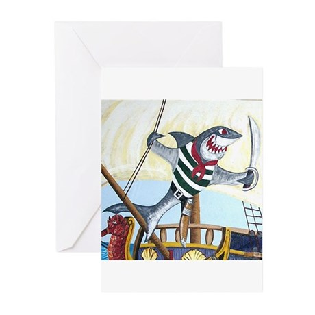 Pirate Shark Greeting Cards (Pk of 20)