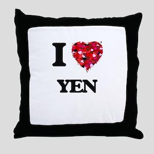 I love Yen Throw Pillow