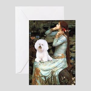 Ophelia & Bichon Greeting Card