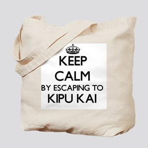 Keep calm by escaping to Kipu Kai Hawaii Tote Bag