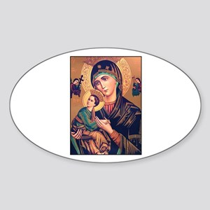 Virgin Mary - Our Lady of Per Oval Sticker