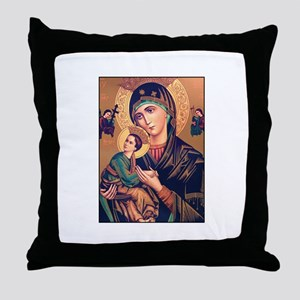 Virgin Mary - Our Lady of Per Throw Pillow