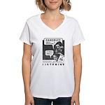 Dandruff Women's V-Neck T-Shirt