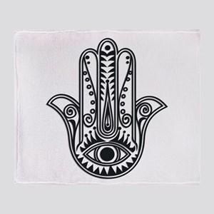 Hamsa Hand Throw Blanket