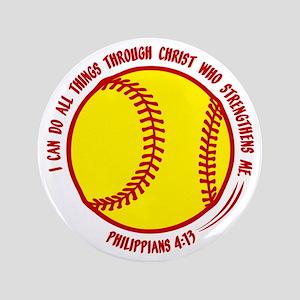 """PHILIPPIANS 4:13 3.5"""" Button"""