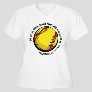 PHILIPPIANS 4:13 Women's Plus Size V-Neck T-Shirt