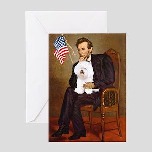 Lincoln & his Bichon Greeting Card