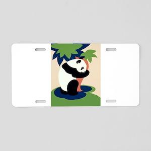 Panda_Hugging_Tree Aluminum License Plate