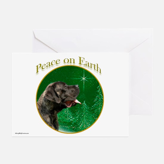 Peace on Earth brindle Greeting Cards (Pk of 10)