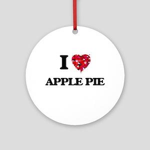 I love Apple Pie Ornament (Round)