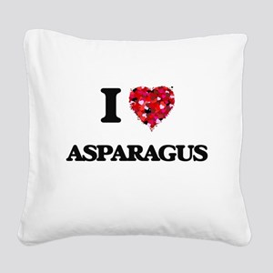 I love Asparagus Square Canvas Pillow
