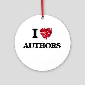 I love Authors Ornament (Round)