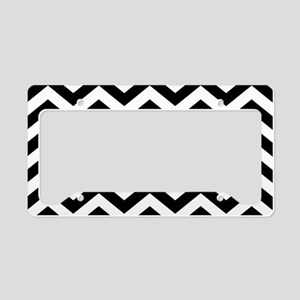 Black: Chevron Pattern License Plate Holder