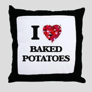 I love Baked Potatoes Throw Pillow