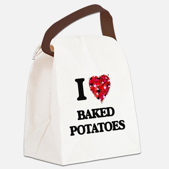 I love Baked Potatoes Canvas Lunch Bag