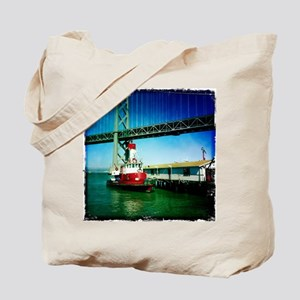 SF Fire Boat Tote Bag
