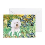 Irises and Bichon Greeting Cards (Pk of 20)