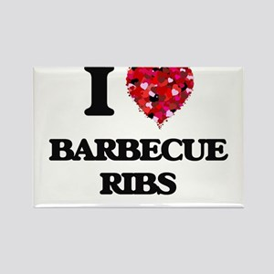 I love Barbecue Ribs Magnets