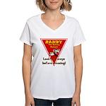 Randy Raccoon Women's V-Neck T-Shirt