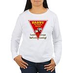 Randy Raccoon Women's Long Sleeve T-Shirt