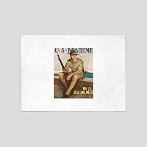 US MARINE-UNDERWOOD 5'x7'Area Rug