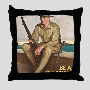 US MARINE-UNDERWOOD Throw Pillow