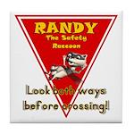 Randy Raccoon Tile Coaster