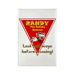 Randy Raccoon Rectangle Magnet