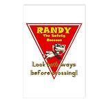 Randy Raccoon Postcards (Package of 8)