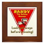 Randy Raccoon Framed Tile