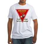 Randy Raccoon Fitted T-Shirt