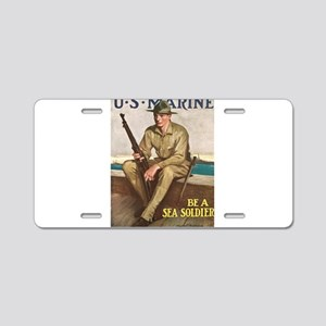 US MARINE-UNDERWOOD Aluminum License Plate