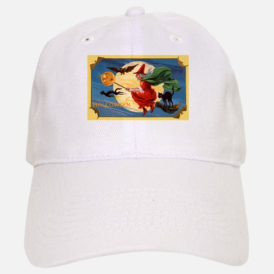 Halloween Flying Witch Baseball Baseball Cap