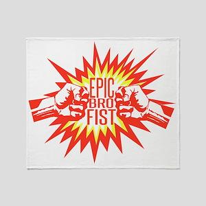 Epic Bro Fist Throw Blanket