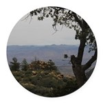 Hualapai Mountain View Round Car Magnet