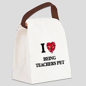 I love Being Teachers Pet Canvas Lunch Bag