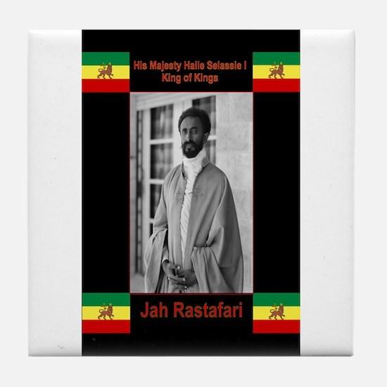 Haile-Selassie-Jah_Rastafari Tile Coaster