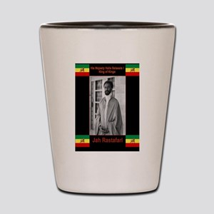 Haile-Selassie-Jah_Rastafari Shot Glass
