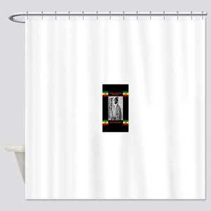 Haile-Selassie-Jah_Rastafari Shower Curtain