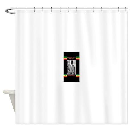 Haile Selassie Jah_Rastafari Shower Curtain