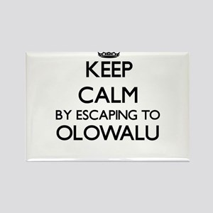 Keep calm by escaping to Olowalu Hawaii Magnets