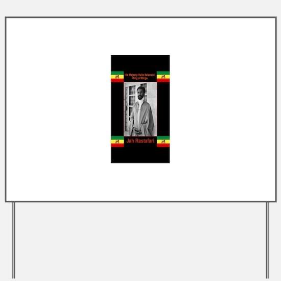 Haile-Selassie-Jah_Rastafari Yard Sign
